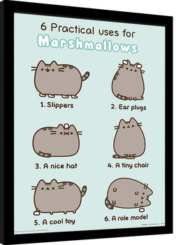 Pusheen - Practical Uses for Marshmallows Afiș înrămat