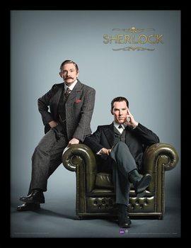 Sherlock - Chair tablou Înrămat cu Geam