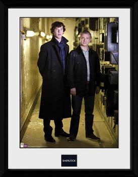 Sherlock - & Watson Portrait tablou Înrămat cu Geam