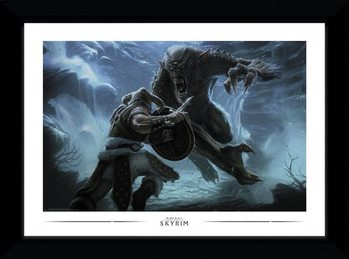 Skyrim - Troll Fight Afiș înrămat