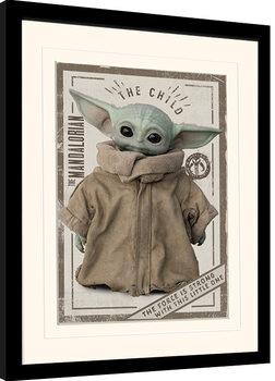 Afiș înrămat Star Wars: The Mandalorian - The Child