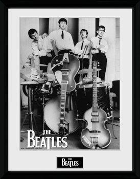 The Beatles - Instruments tablou Înrămat cu Geam