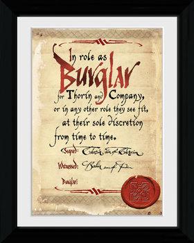 The Hobbit - Burglar tablou Înrămat cu Geam
