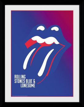 The Rolling Stones - Blue and Lonesome tablou Înrămat cu Geam