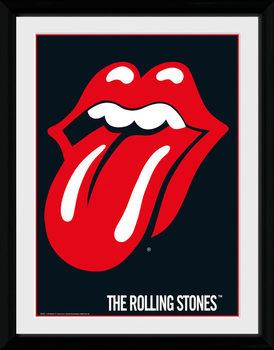 The Rolling Stones - Lips tablou Înrămat cu Geam