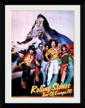 The Rolling Stones - On Tour 76 tablou Înrămat cu Geam