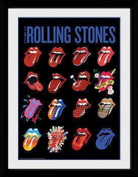 The Rolling Stones - Tongues tablou Înrămat cu Geam