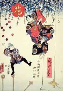 Tablou Canvas An advertising print of a circus owned by Hayatake Torakichi