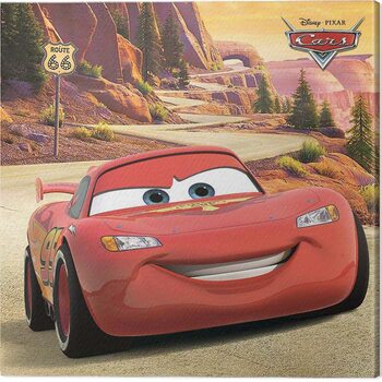 Tablou Canvas Cars - Lighting McQueen - Route 66