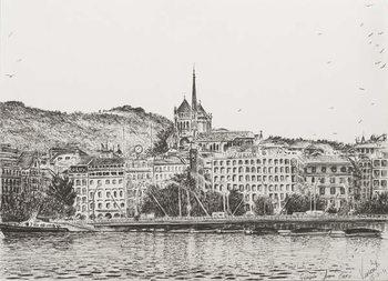 Tablou Canvas City of Geneva, 2011,