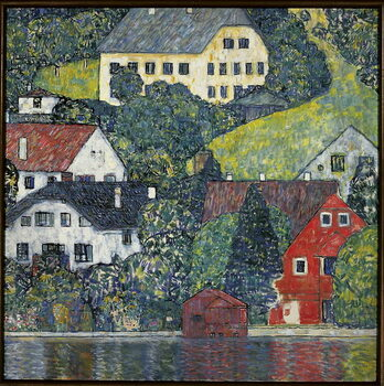 Tablou Canvas Houses at Unterach on the Attersee