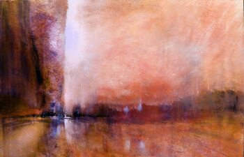 Tablou Canvas look to the west - red horizons