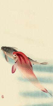 Tablou Canvas Ohara Koson - Two Carp
