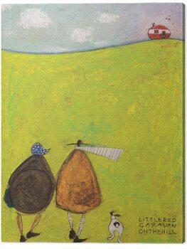 Tablou Canvas Sam Toft - Little Red Caravan on the Hill