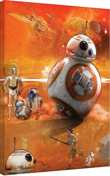 Tablou Canvas Star Wars Episode VII: The Force Awakens - BB-8 Art