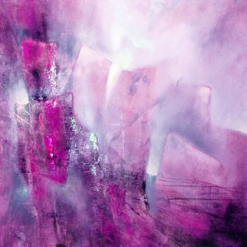 Tablou Canvas the bright side - pink with a hint of purple