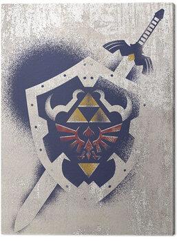Tablou Canvas The Legend of Zelda - Hylian Shield Stencil
