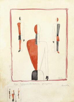 Tablou Canvas Three Suprematist Figures