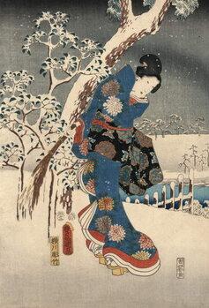 Tablou Canvas Ukiyo-e Print from the Tale of Genji by Kunisada and Hiroshige