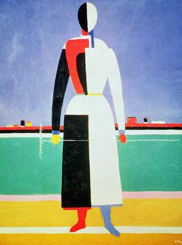 Tablou Canvas Woman with a Rake
