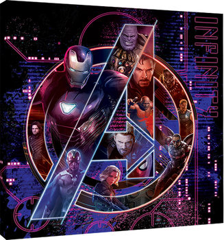 Avengers Infinity War - Icon Characters Tablou Canvas