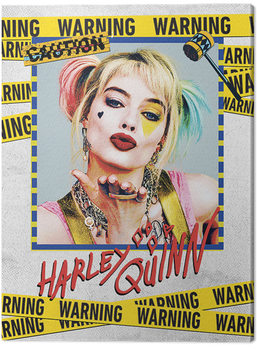 Birds Of Prey: And the Fantabulous Emancipation Of One Harley Quinn - Harley Quinn Warning Tablou Canvas
