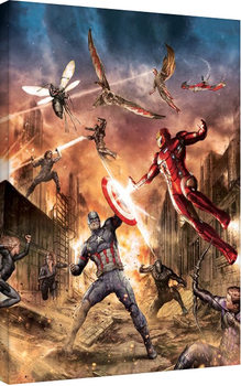 Captain America Civil War - Group Fight Tablou Canvas