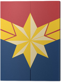 Captain Marvel - Emblem Tablou Canvas