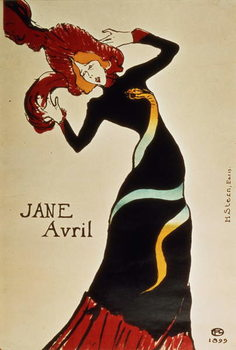 Jane Avril (1868-1943) 1899 Tablou Canvas