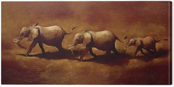 Jonathan Sanders  - Three African Elephants Tablou Canvas