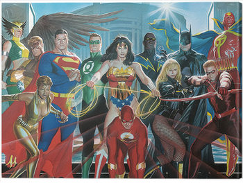Justice League - Characters Tablou Canvas