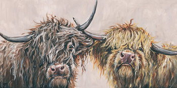 Louise Brown - Nosey Cows Tablou Canvas