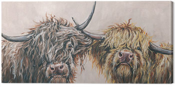 Louise Brown - Nosey Cows Tablou Canvas