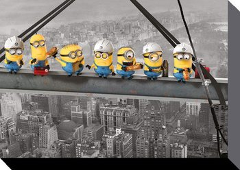 Minions (Despicable Me) - Minions Lunch on a Skyscraper Tablou Canvas