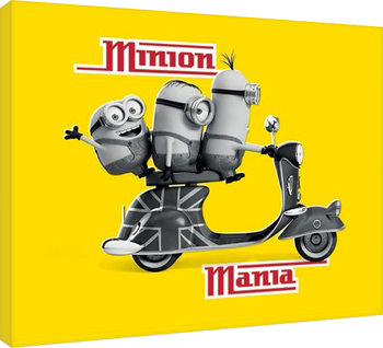Minions - Minion Mania Yellow Tablou Canvas