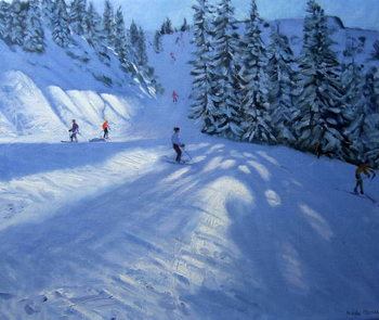 Morzine, ski run Tablou Canvas