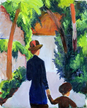 Mother and Child in the Park, 1914 Tablou Canvas