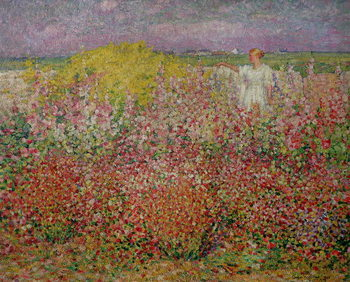 Mrs. Russell Amongst the Flowers at Belle Isle, 1927 Tablou Canvas