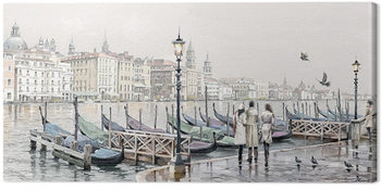 Richard Macneil - Quayside, Venice Tablou Canvas