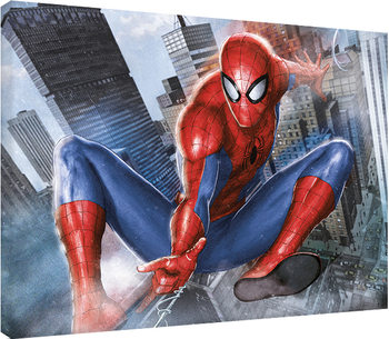 Spider-Man - In Action Tablou Canvas