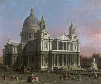 St. Paul's Cathedral, 1754 Tablou Canvas