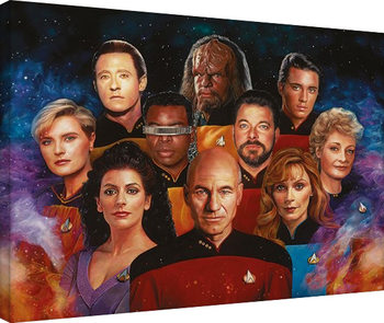 Star Trek: The Next Generation-50th Anniversary Tablou Canvas