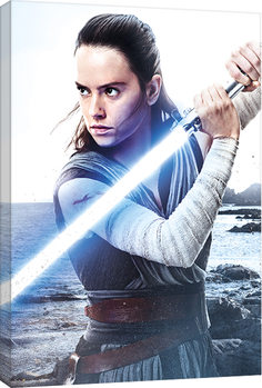 Star Wars The Last Jedi - Rey Engage Tablou Canvas