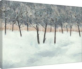 Stuart Roy - Silver Trees on White Tablou Canvas