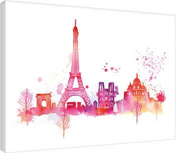 Summer Thornton - Paris Skyline Tablou Canvas