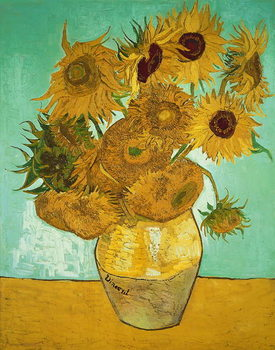 Sunflowers, 1888 Tablou Canvas