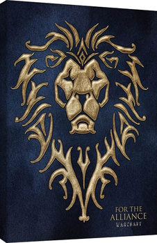 Warcraft - For The Alliance Tablou Canvas