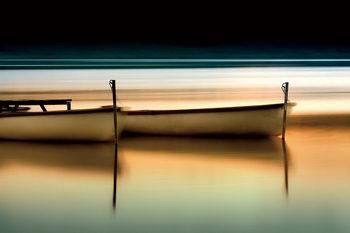 Tablouri pe sticla Boats