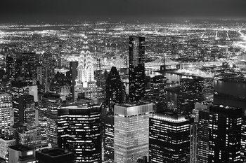 Tablouri pe sticla Night City - Aerial View