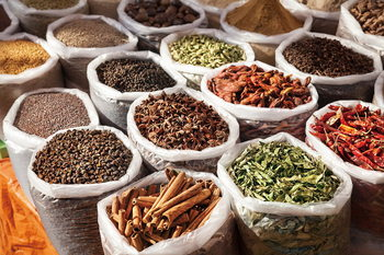 Tablouri pe sticla Spices of Life